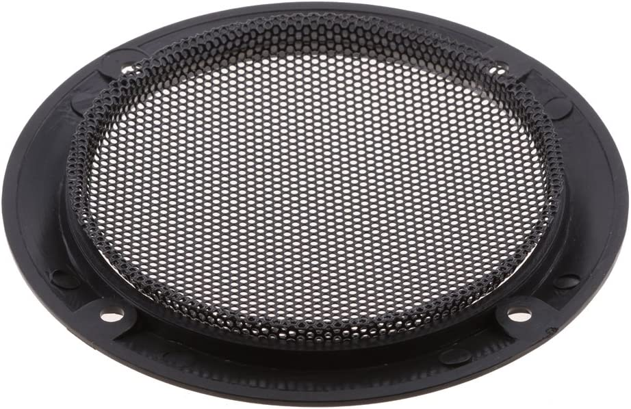Speaker Grills Cover Guard Protector with Protective Black Iron Grille Mesh P Prettyia 4 Inch Speaker Decorative Circle