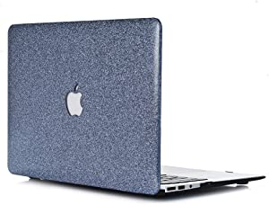 "Case for L2W MacBook Air 13 , MacBook Air 13.3 inch Smooth Plastic Hard Shell Protective Case Cover of Sparkly Glitter Series Compatible with Laptop MacBook Air 13"" Model A1369/A1466 - Dark Gray"