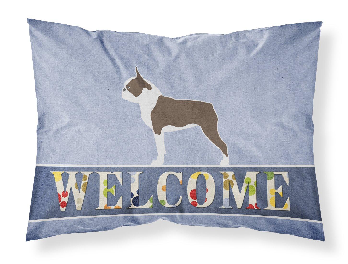Standard, Carolines Treasures Shar Pei Merry Welcome Pillowcase