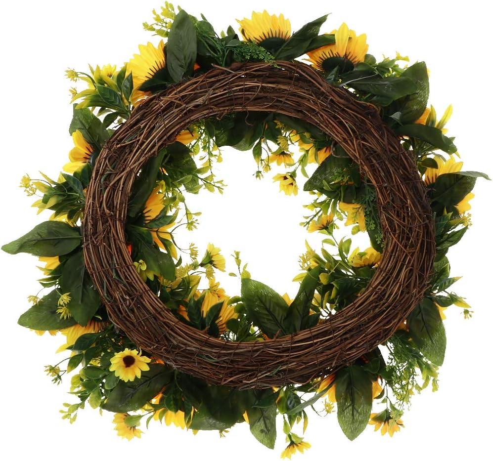 Artificial Wreath Door Wreaths Dia42cm Large Lavender Wreath Round Home Decorate