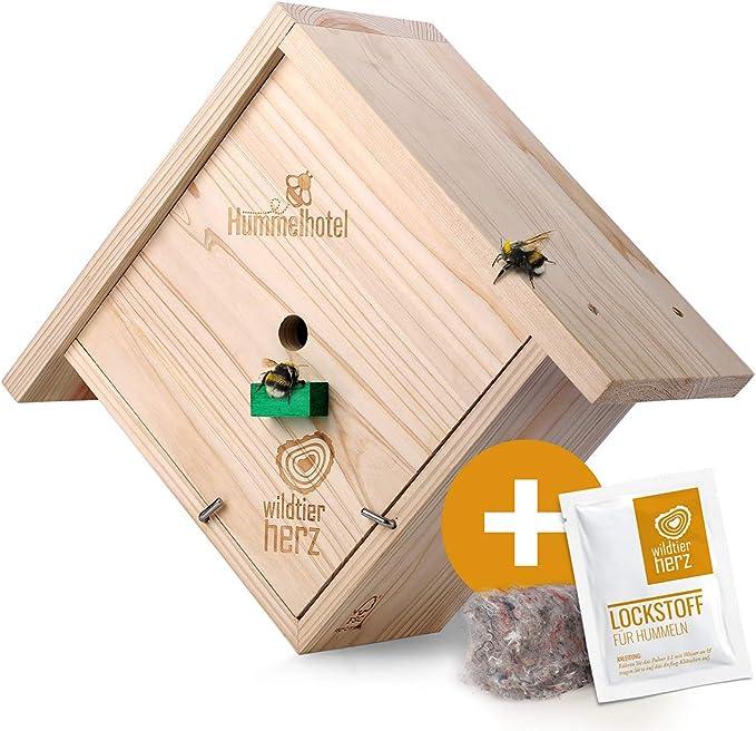 Hummel Insektenhotel - wildtier herz Hummelkasten zum Hängen