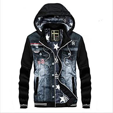 b70982d71 Hot Newly Sale Hooded Denim Jakets Men Autumn Slim Denim Coats Jean ...