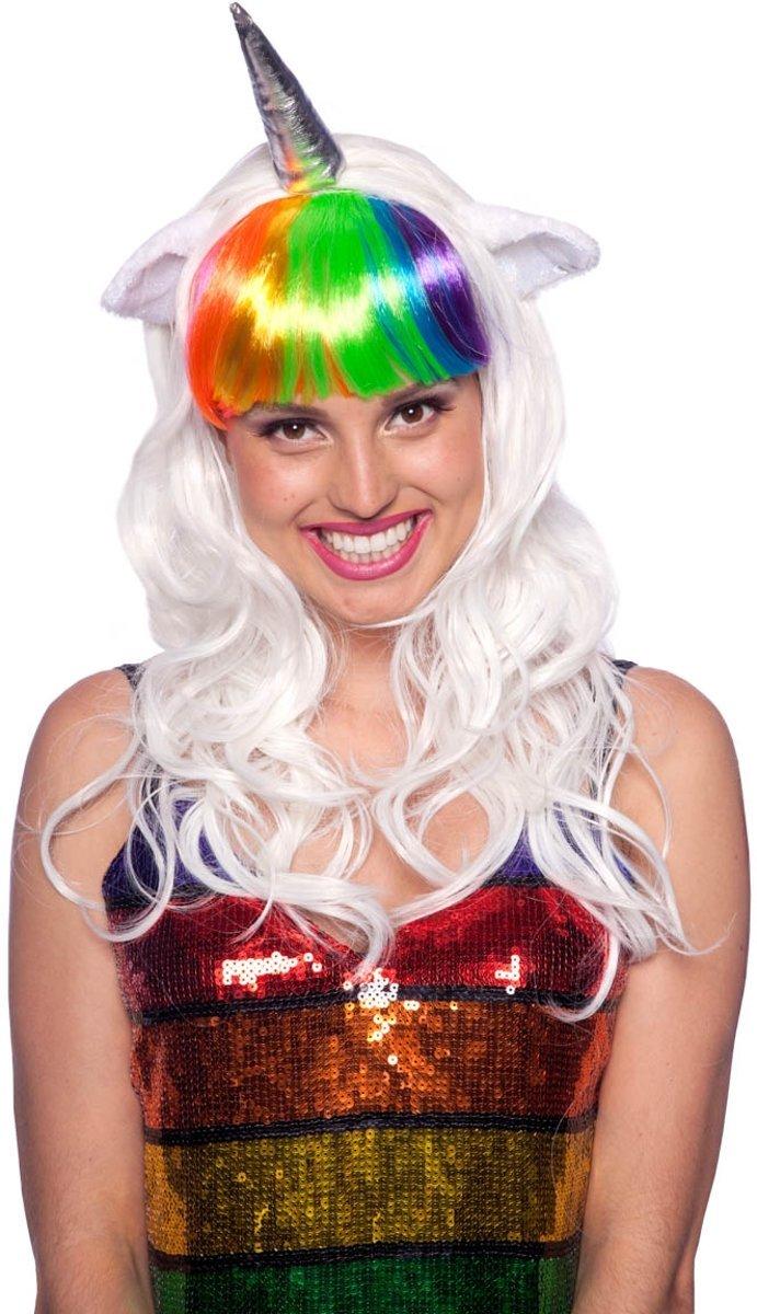 Folat Unicornio Criatura imaginaria Peluca para Mujer Disfraz: Amazon.es: Juguetes y juegos