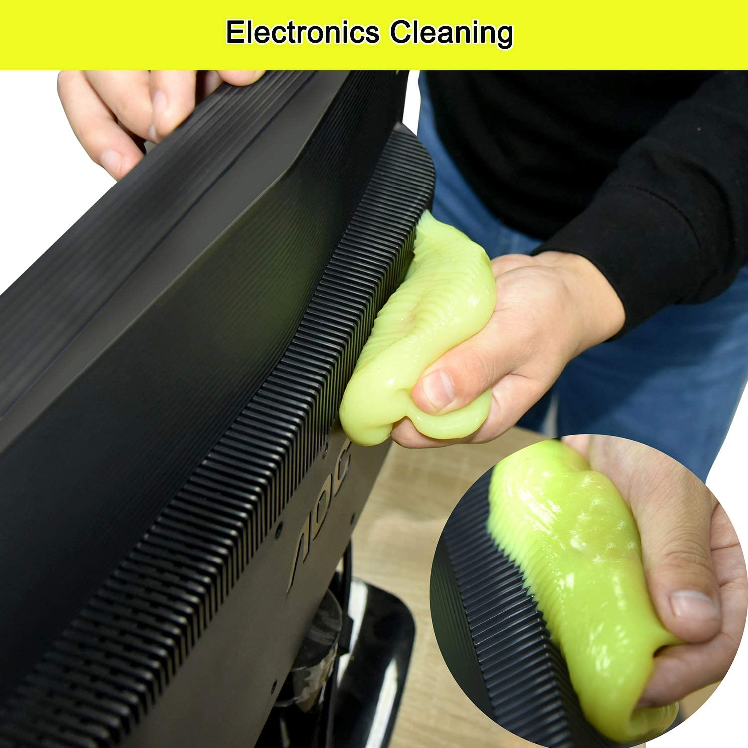 Cleaning Gel Universal Dust Cleaner for PC Keyboard Cleaning Car Detailing Laptop Dusting Home and Office Electronics Cleaning Kit Computer Dust Remover from ColorCoral 160G: Home Audio & Theater