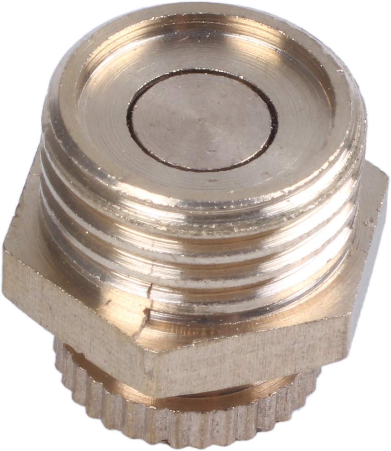 WOVELOT 2 pcs 1//4 PT filetage en metal soupape de vidange de l/'eau pour Compresseur d/'air or