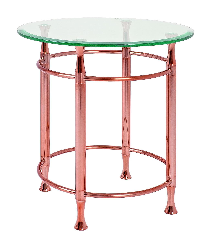 HAKU Furniture 39123 console copper plated, W: 35 x D: 35 x H: 72 cm