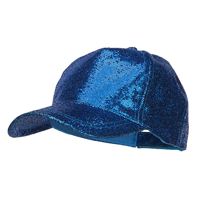 195be7147053f2 SS/Hat Ladies Glitter Baseball Cap - Blue OSFM at Amazon Women's ...