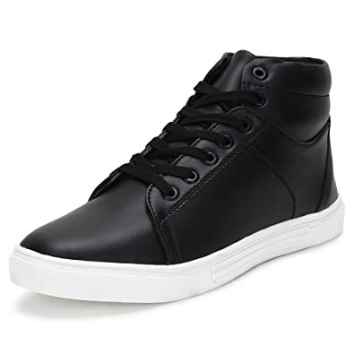 eee9453a0585bc BUWCH Men Black Casual Shoe: Buy Online at Low Prices in India ...