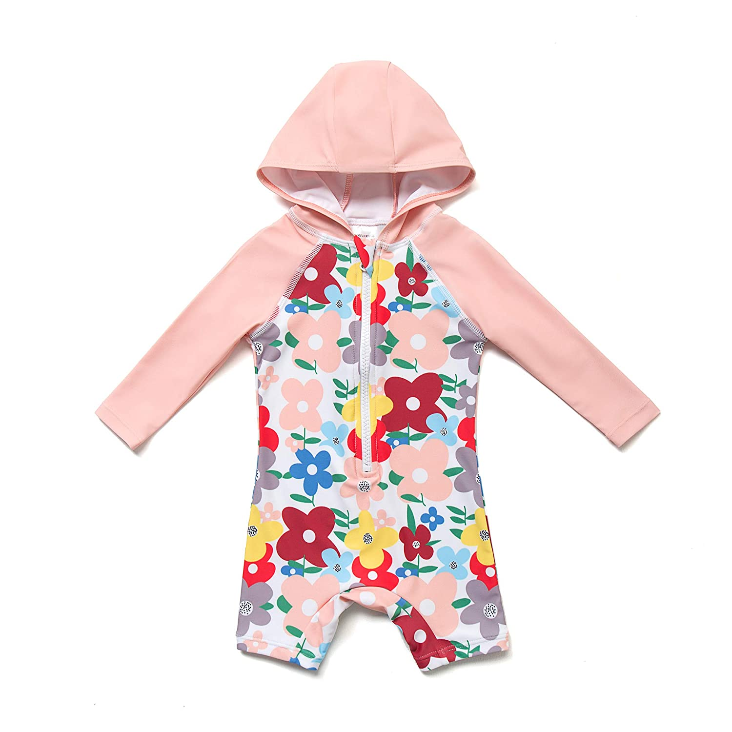 Baby & Toddler Girls Long Sleeve One-Piece Swimsuit with UPF 50+ Sun Protection
