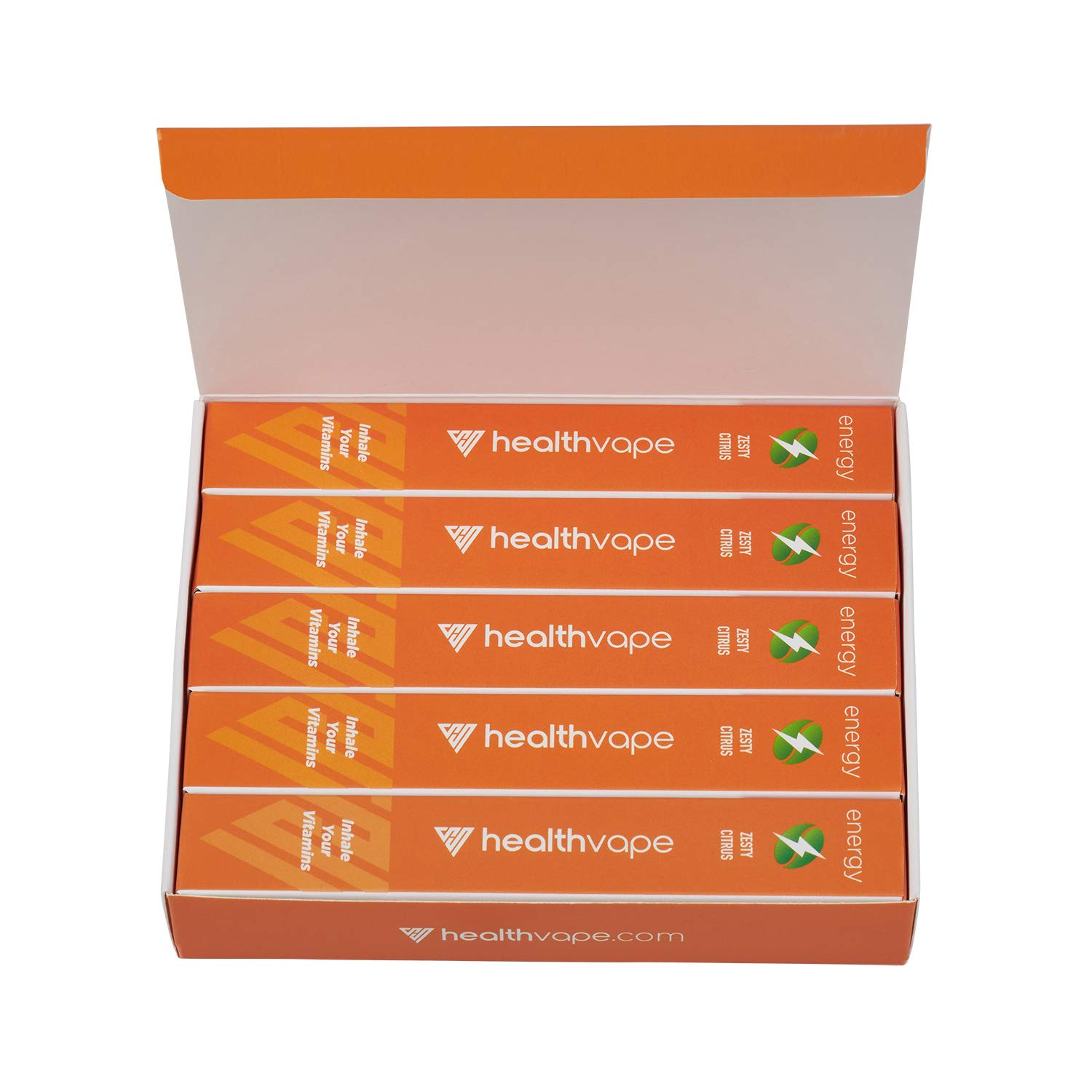 Energy Caffeine + Vitamin B12 Energy Inhaler Pen with Orange and Cassia Oils + L-Theanine - Citrus Flavored Daily Vitality Supplement (5)