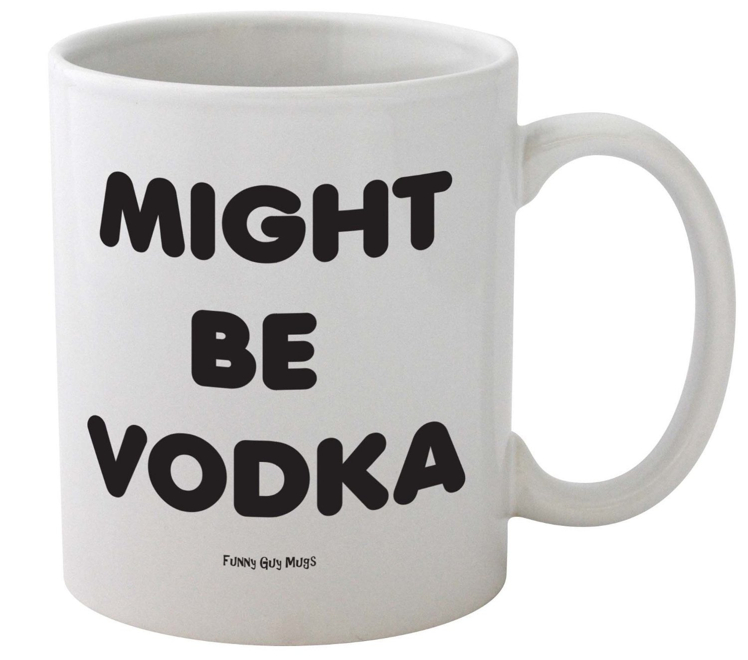 amazon com funny guy mugs might be vodka ceramic coffee mug