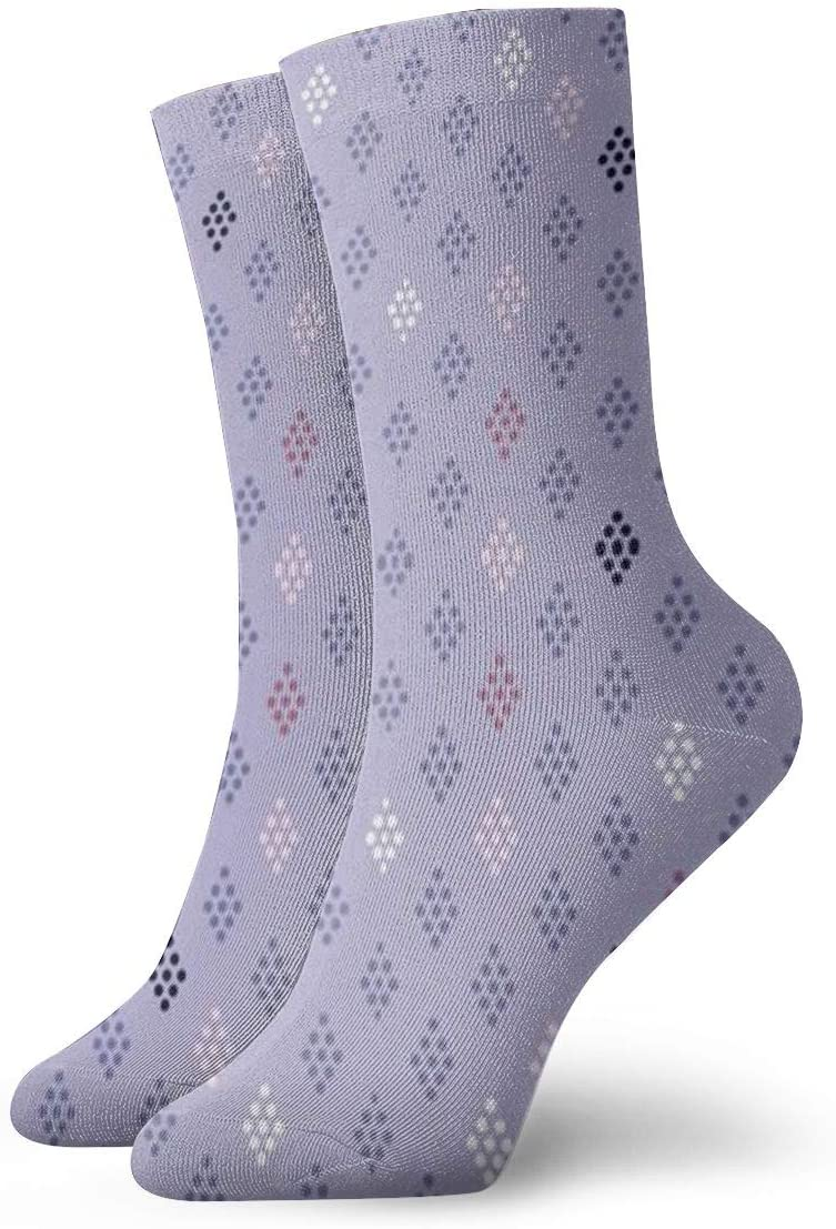 Jokerbilibili Light Periwinkle Unisex Print Athletic Quarter//Ankle Running Hiking Socks-Weekend Lounge Short Crew Socks