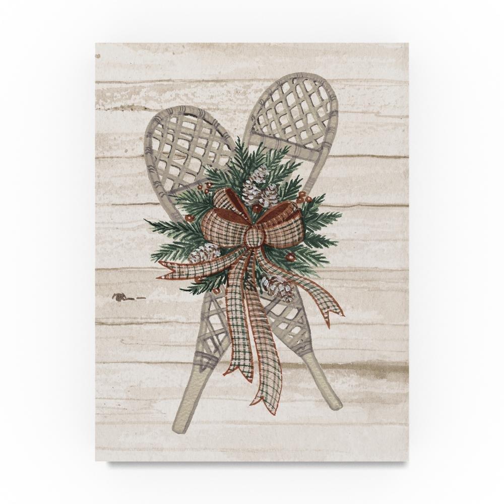 Trademark Fine Art Kathleen Parr McKenna Holiday Sports on Wood III Luxe, 14x19