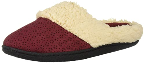 c88142c17c48 Image Unavailable. Image not available for. Color: Dearfoams DF Women's  Microfiber Suede Clog Slipper ...