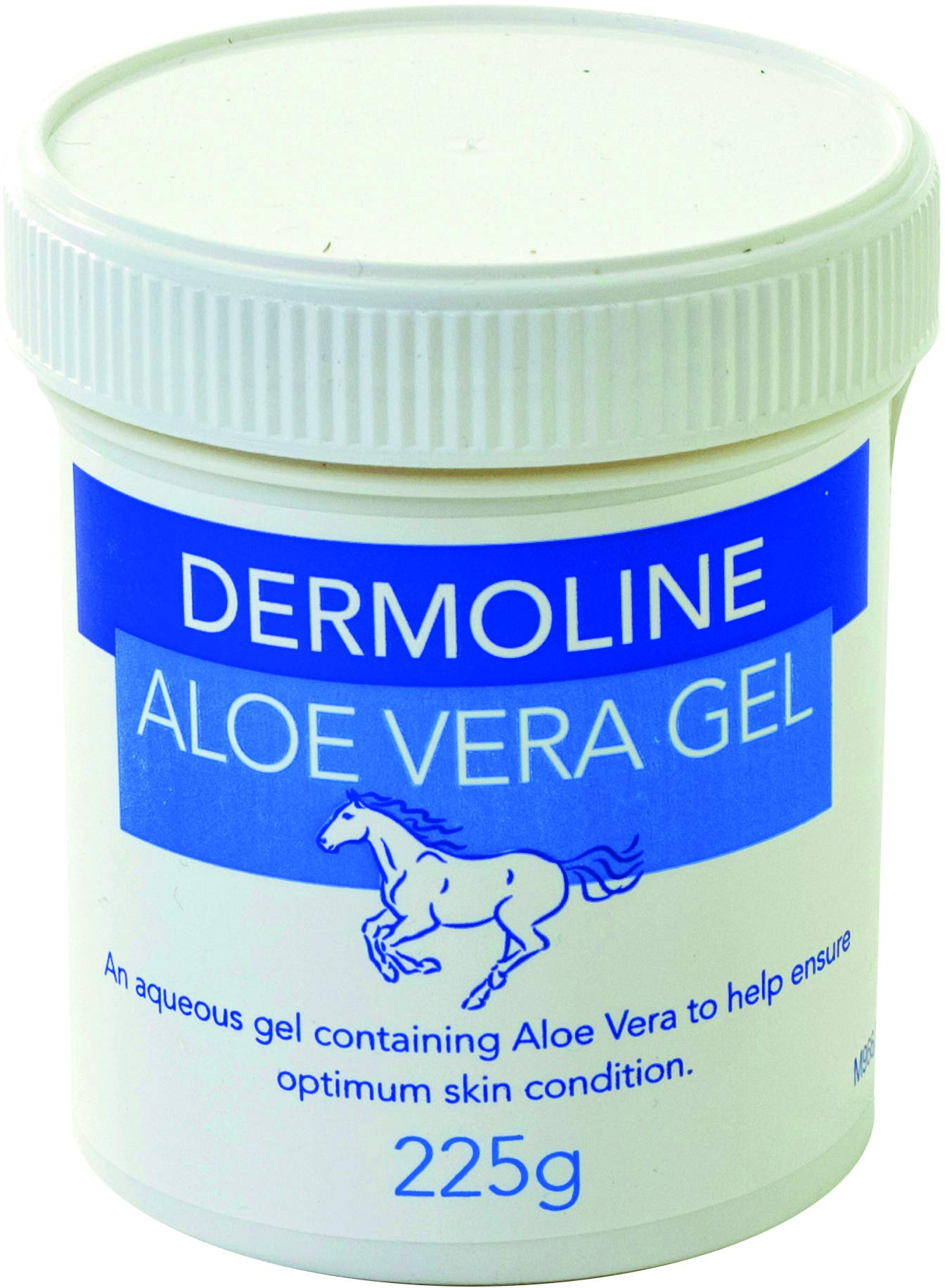 Dermoline Aloe Vera Gel Horse First Aid 225g White
