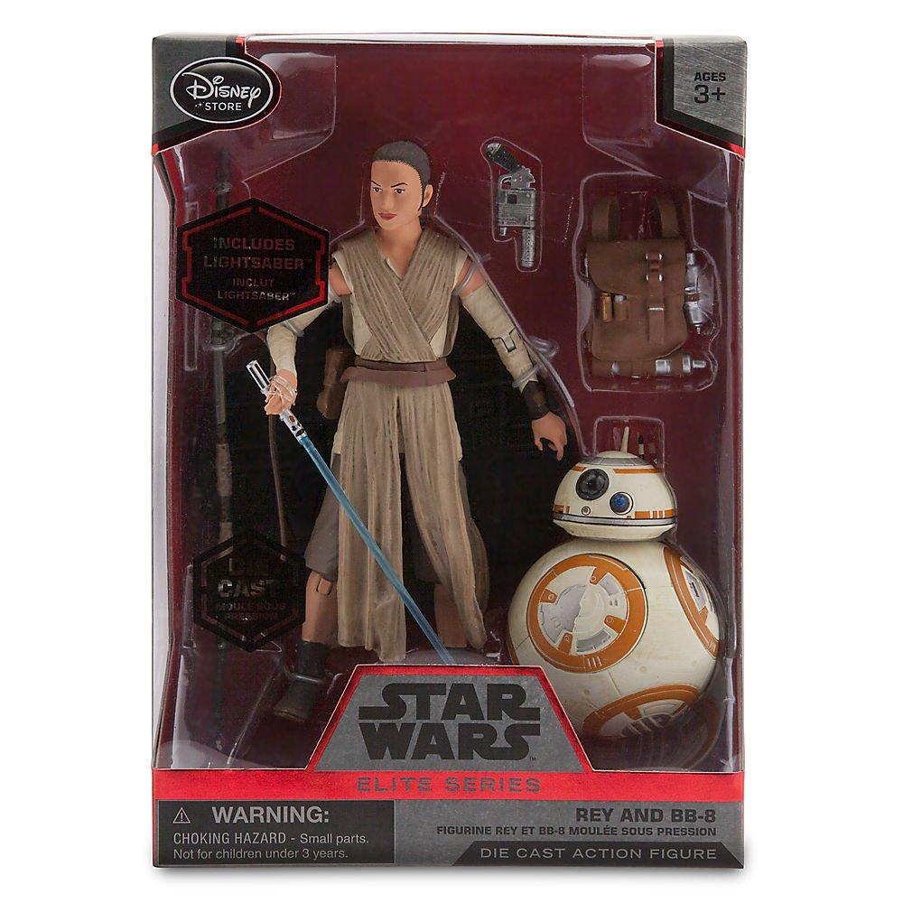 Star Wars Rey and BB-8 Elite Series Die Cast Action Figures 6 Inch The Force Awakens Disney 461019904725