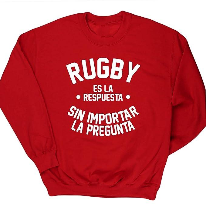 HippoWarehouse RUGBY ES LA RESPUESTA SIN IMPORTAR LA PREGUNTA jersey sudadera suéter derportiva unisex: Amazon.es: Ropa y accesorios
