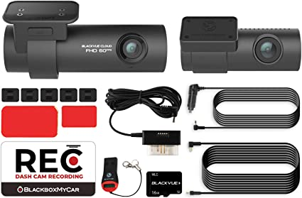Pittasoft Blackvue DR750S-2CH with Power Magic Pro Hardwire Kit 2-Channel 1080P Full HD Car DVR Recorder 16GB SD Card