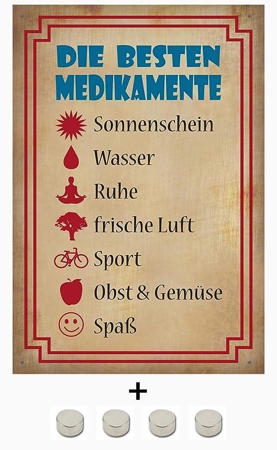 BlechschilderWelt Cartel de Chapa con Texto en alemán Beste ...