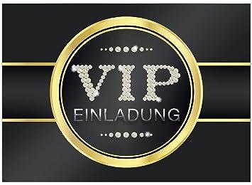 16 Edle VIP Einladungskarten Geburtstag   Motiv V.I.P.   Für Party, WG,  Einweihung,