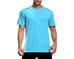 visionreast Men's Sports T-Shirt Moisture Wicking Quick Dry Workout Stretch Tee Running Gym Training Athletic T-Shirts