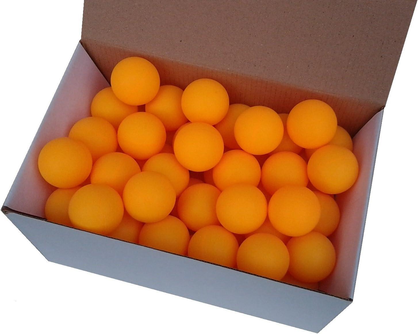 Der Sportler Aufdruck - Set de 72 Pelotas de Tenis sin impresión (38 mm de diámetro, Material Estable), Color Naranja