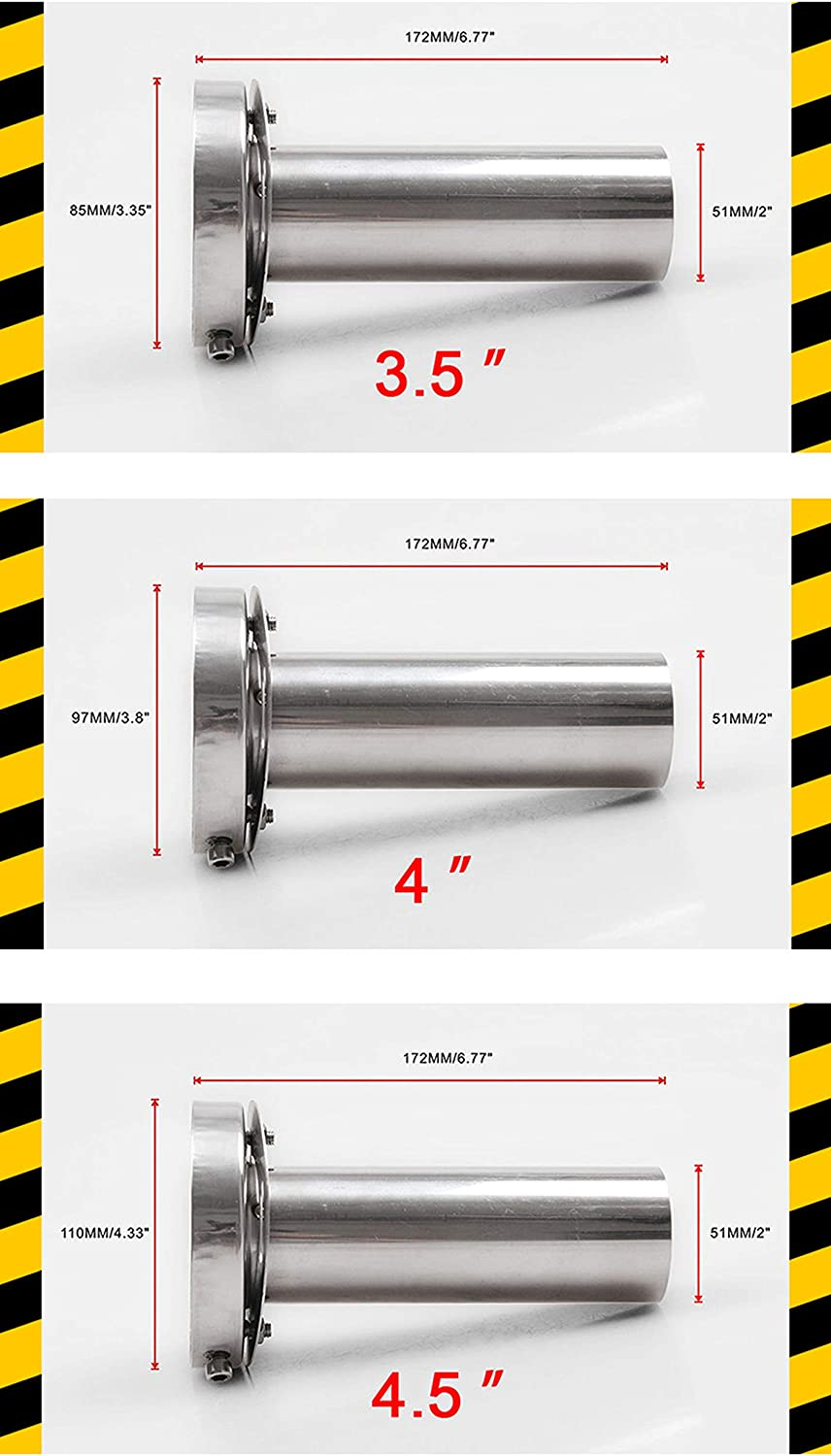 SUNWAN Exhaust Pipe Muffler Car Rear Tail Pipe Silencer 3 Size Adjustable Baffle Stainless Steel Universal