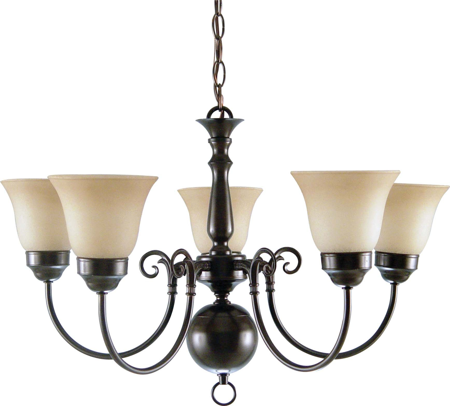 Volume Lighting V3545-83 5 Light Roman Chandelier, Bronze
