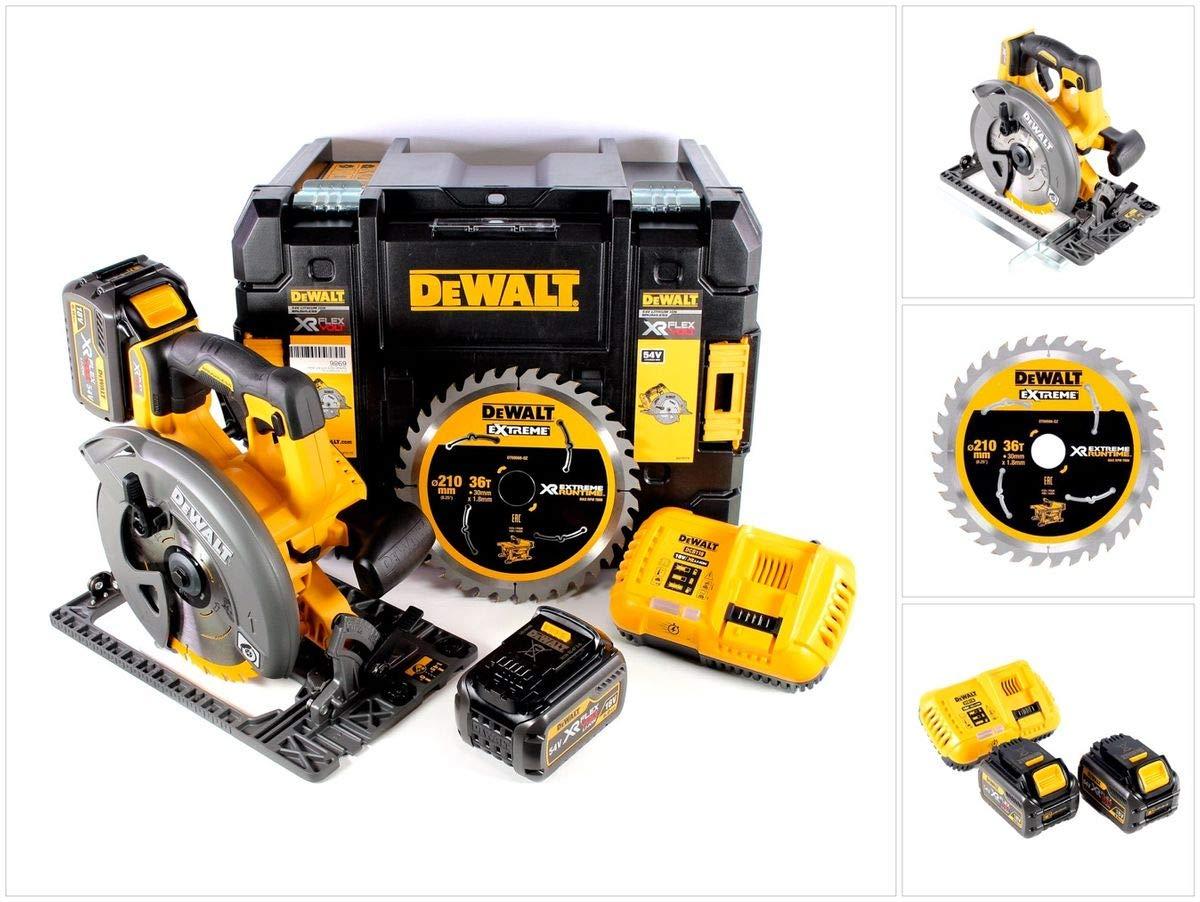DeWalt DCS 576 54 V Flex V batería Sierra circular de mano con 190 ...