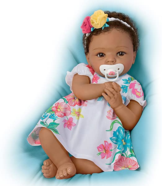 Lovely Gabrielle Lifelike Weighted Silicone Ashton Drake Baby Doll w//Rooted Hair