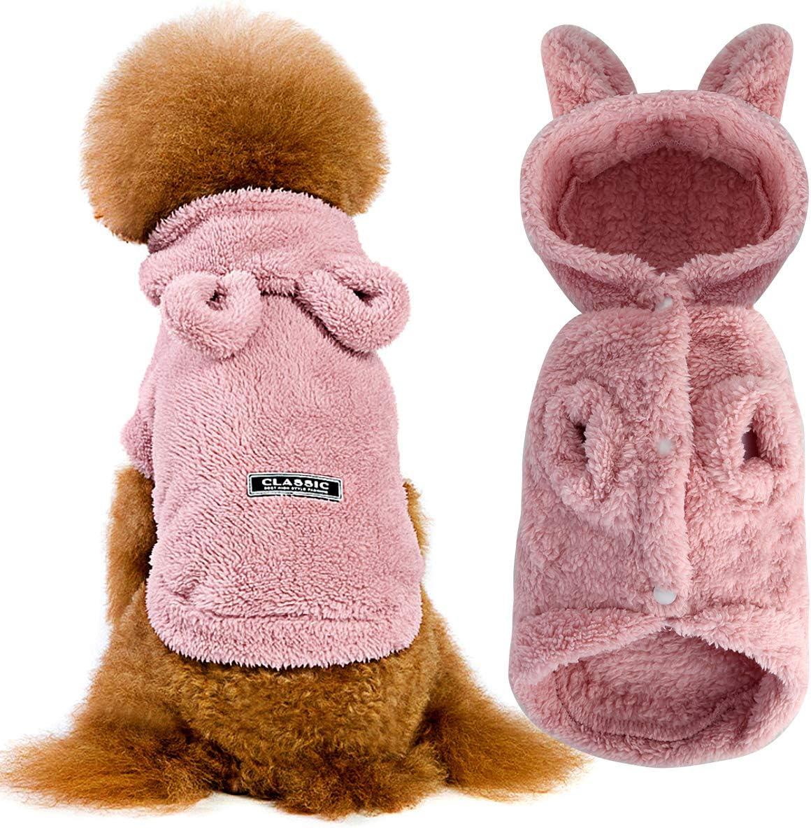 Hundepullover Winter Warm Strick Hoodie Hundepulli Hund Pullover Hundebekleidung Hund Kleidung Chihuahua Kleidung f/ür Kleine Hunde Franz/ösische Bulldogge