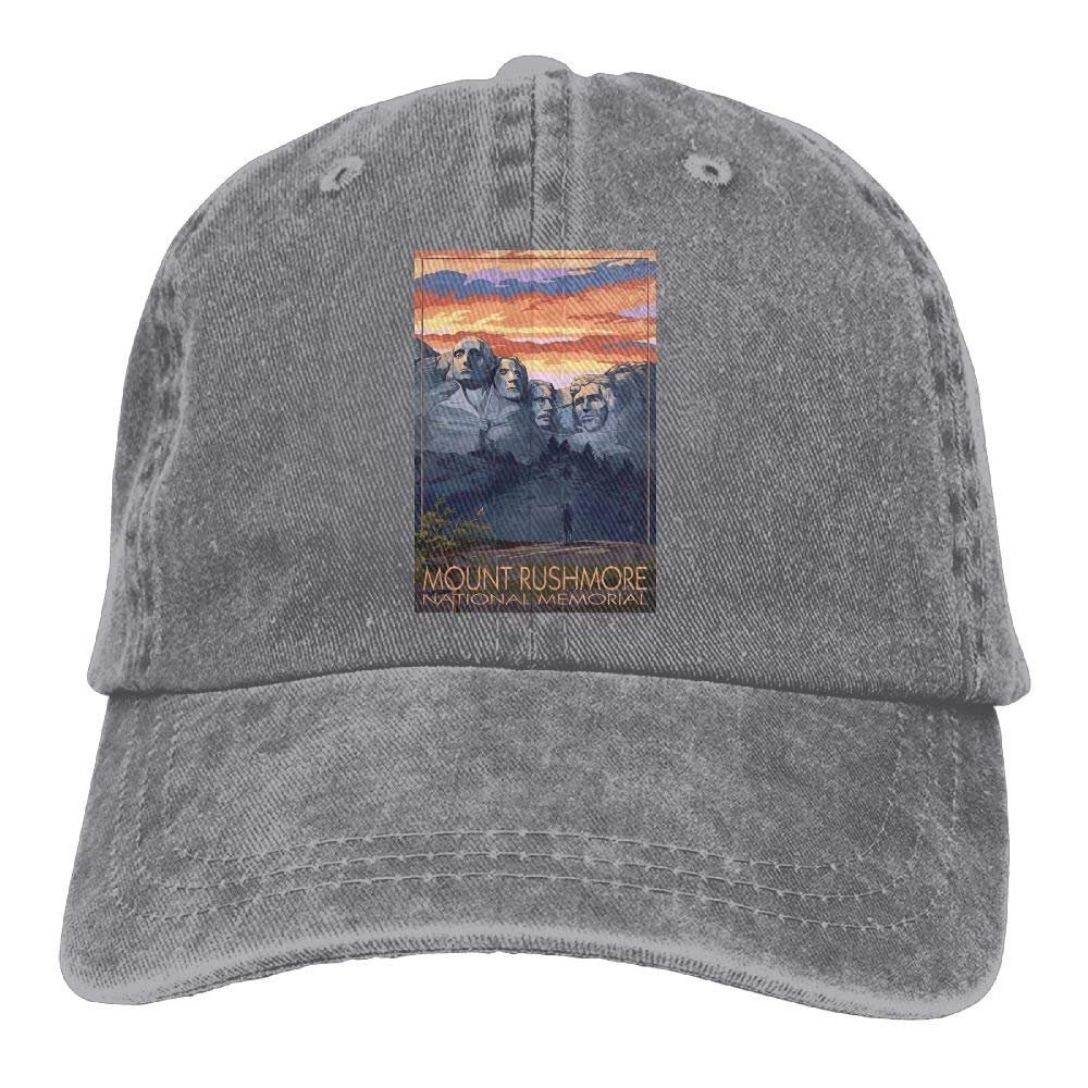 South Dakota Unisex Denim Baseball Cap Mount Rushmore National Memorial
