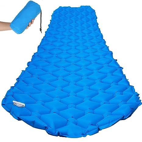 Esterillas Hinchables,Eyeco Ultraligero Compacto Cojín de Colchón Esterilla de Camping Inflable Ultraligero Dormir Pad con diseño de cómodo ...