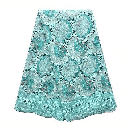 f4ae9ec8c Amazon.com: WorthSJLH African Lace Fabric, Nigerian Swiss Voile Lace ...
