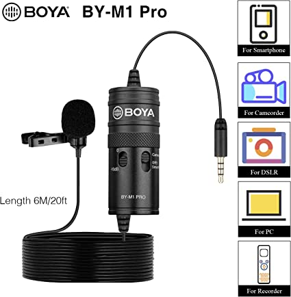BOYA BY-M1 Pro - Micrófono universal de solapa para smartphones ...