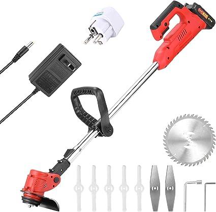 Leeofty Cortadora de césped eléctrica de 21 V, cortadora de césped inalámbrica para el hogar, herramienta de poda portátil para jardín