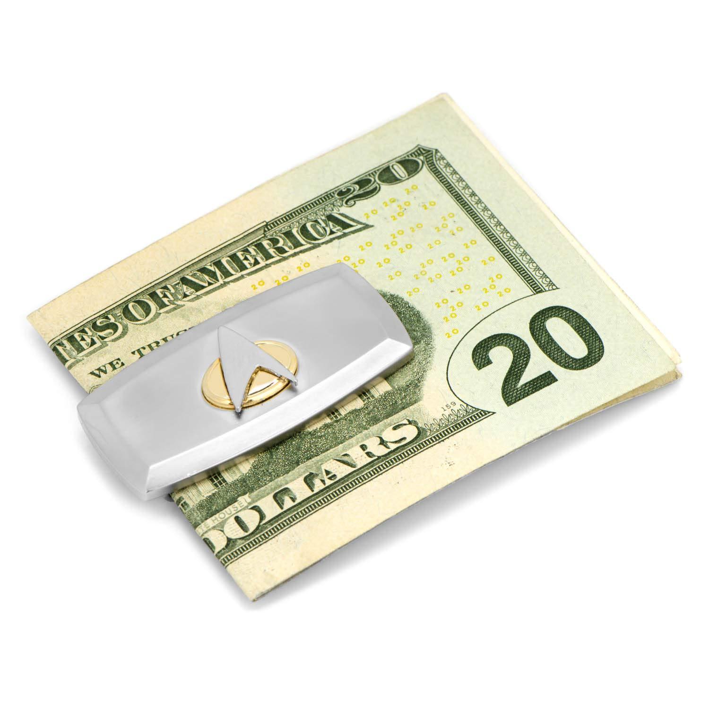 Officially Licensed Star Trek Two-Tone Delta Shield Cushion Money Clip