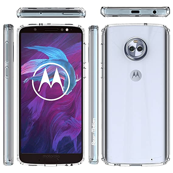 Bear Motion for Moto Z3 Play Verizon Version Only with Shockproof TPU  Bumper and Scratch Proof PC Back Cover (Clear, Moto Z3 Play Verizon Version