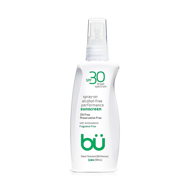 Bu SPF 30 Ultrafine WOWmist Sunscreen Spray - Clear, Non Greasy, Non Toxic, Non Comedogenic. Sweat & Water-Resistant. Travel, Sport, Sensitive Skin (Fragrance-Free, 3.3 oz)
