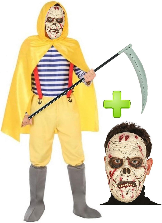 Disfraz de Pescador Amarillo Zombie con mascara: Amazon.es: Ropa y ...