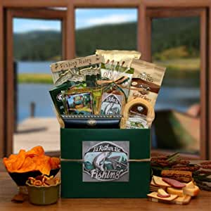 I'd Rather Be Fishing Gift Basket Box