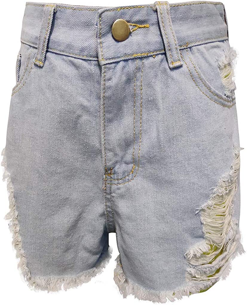 NREALY Pantalones Cortos Womens Fashion Casual Skinny Jeans Hole Denim Female Mid Waist Shorts Pants