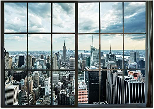 Picture Print Wall Art Home Decor Landscape Paint New York City Day NOT FRAMED