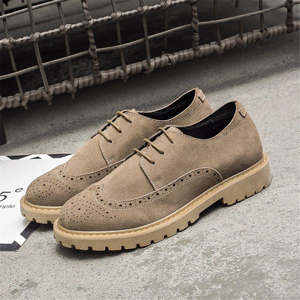 GLSHI Zapatos casuales para hombre Primavera Otoño Trabajo formal Zapatos con cordones Trekking Confort Transpirable (Color : Segundo, tamaño : 39) 39|Segundo Segundo