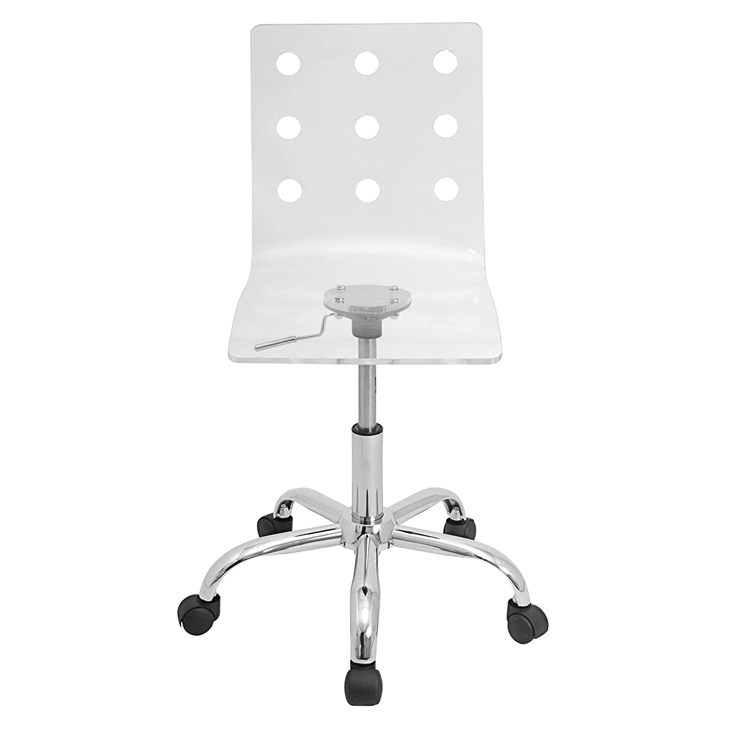 Acrylic office chair - Amazon Com Woybr Ofc Tw Cl Acrylic Chrome Swiss Office Chair Kitchen Dining