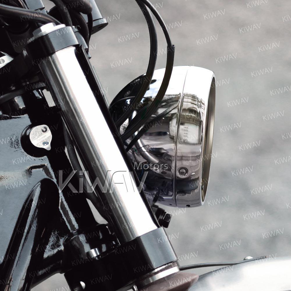 Alloggiamento faro cromo supporto inferiore 5-3//4 luce chopper moto
