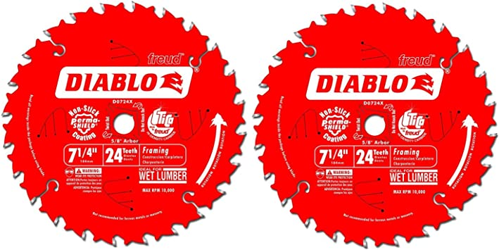 Freud D0740X Diablo 7-1//4 40 Tooth ATB Finishing Saw Blade with 5//8-Inch Arbor