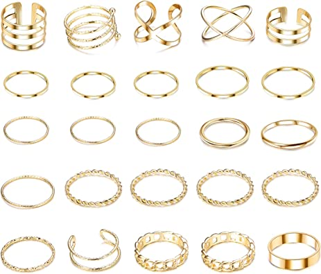 Midi Ring Knuckle Ring Knuckle Ring Set Stackable Rings Gold Rings Adjustable Rings