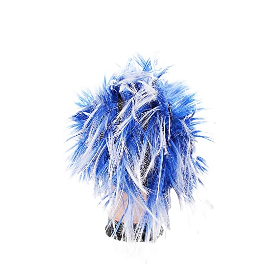 Amazon.com: Multifit Unisex Funky Spiky Wigs Crazy Halloween Costumes Cosplay Punk Wig Accessory(Blue): Clothing