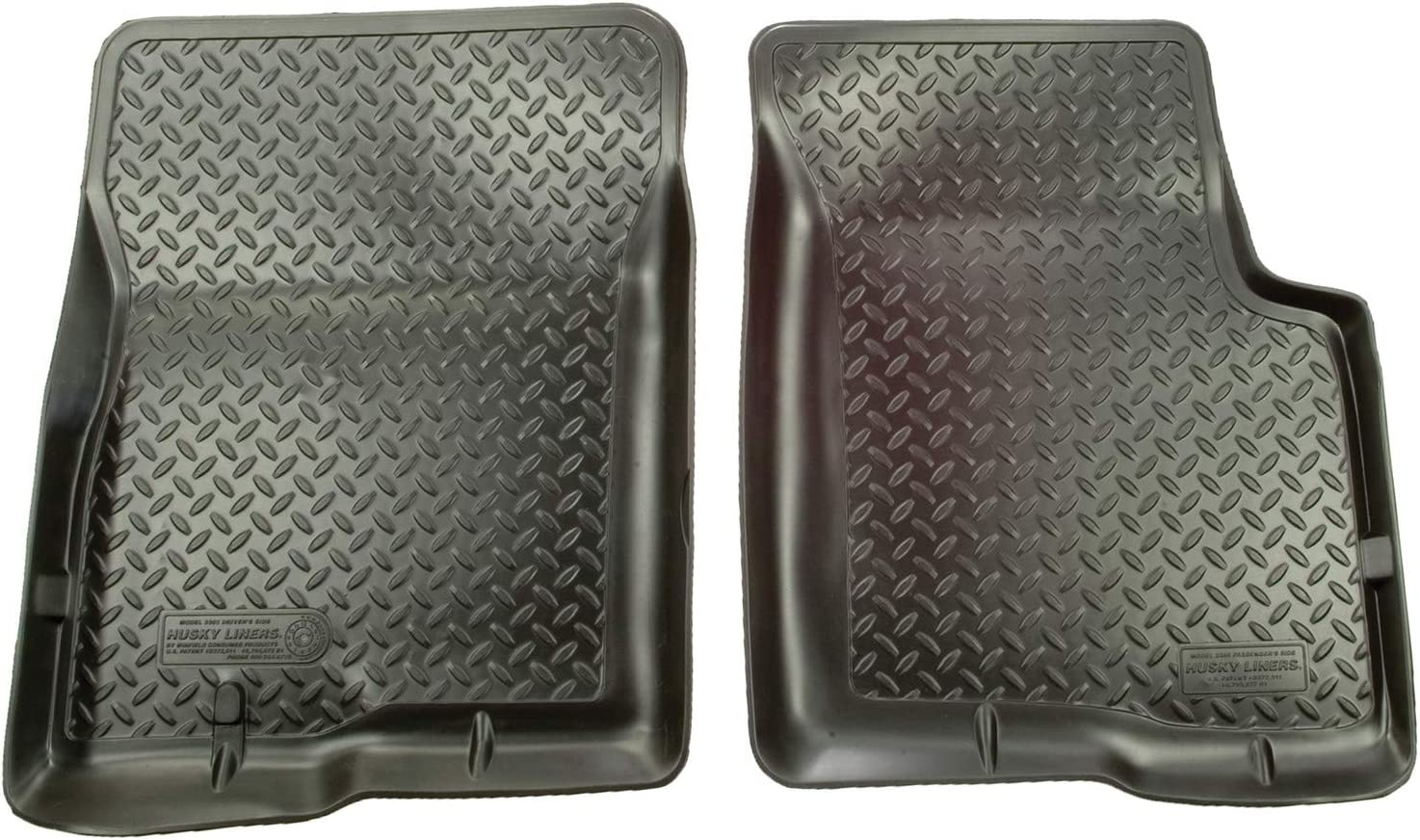 Husky Liners Fits 1980-96 Ford Bronco, 1980-96 Ford F-150, 1980-97 Ford F-250/F-350 Classic Style Front Floor Mats